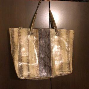 Handbags - Snakeskin tote